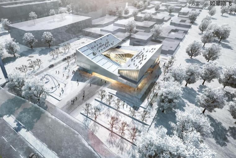 [陕西]现代风格Thpae示范区建筑设计方案
