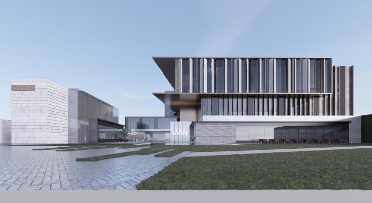 [湖北]现代风格示范区建筑概念方案设计