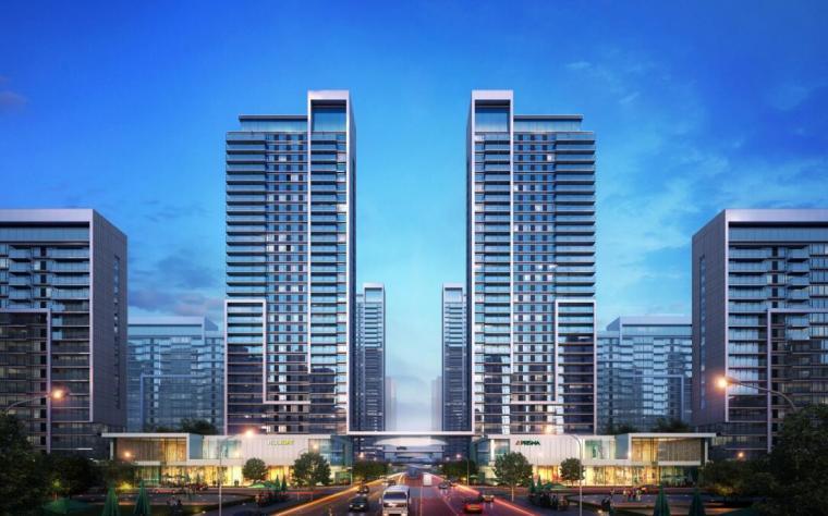 [山东]体验示范区及首开区规划方案设计-高层效果
