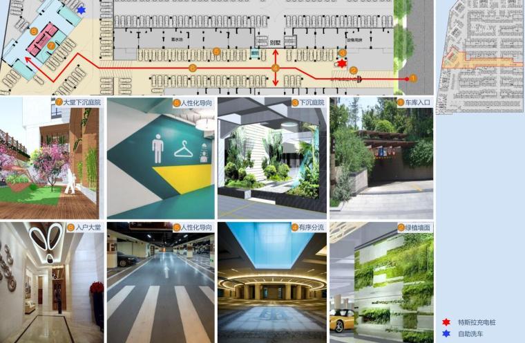 [四川]现代风格高层+别墅建筑方案设计-地下空间规划