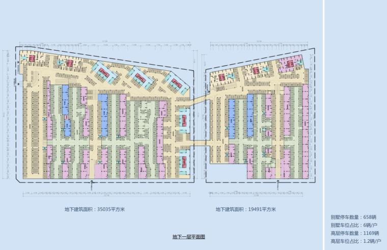 [四川]现代风格高层+别墅建筑方案设计-停车规划