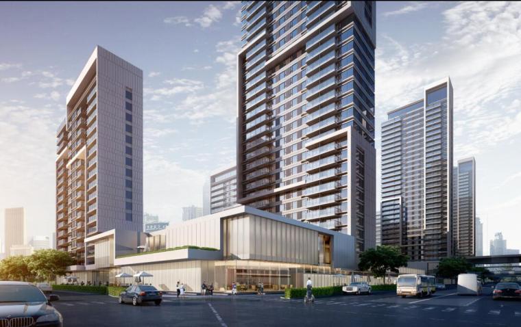 [山东]体验示范区及首开区规划方案设计-街角商业效果
