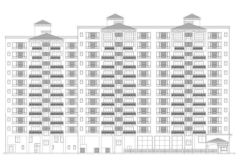 南方某十二层高层住宅小区建筑施工图