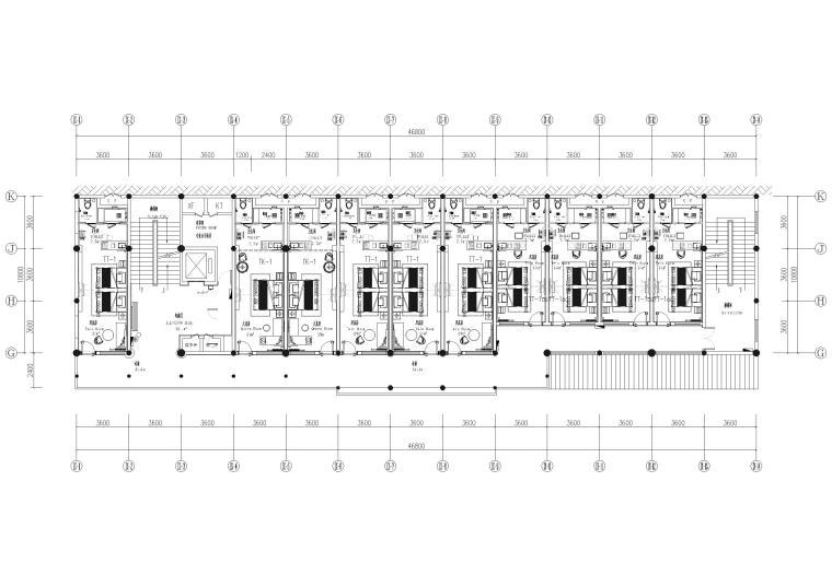 9#楼二层 总平面图