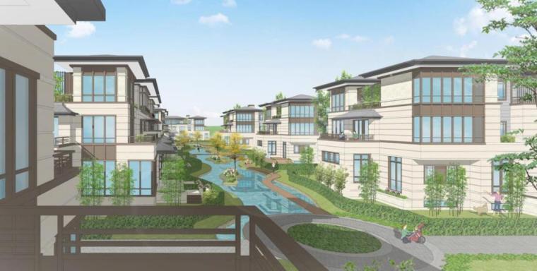 [四川]新亚洲风住宅+城市别墅建筑方案设计-效果图一