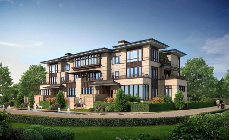 [四川]新亚洲风住宅+城市别墅建筑方案设计-别墅效果图