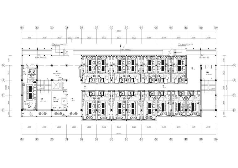 9#楼三层 总平面图