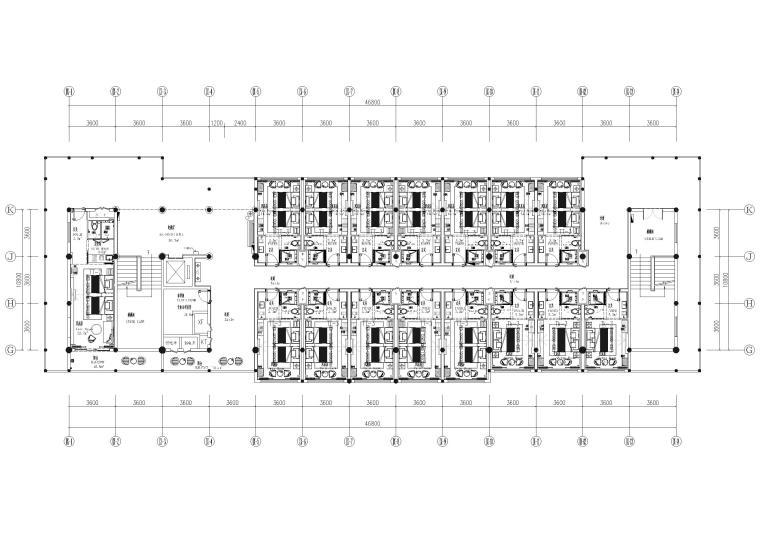 9#楼五层 总平面图