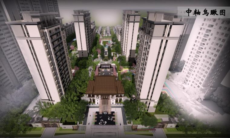 壹号院新中式风格住宅景观概念设计