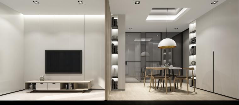 B1效果图(73建面一室两厅一卫)-客餐廳_01