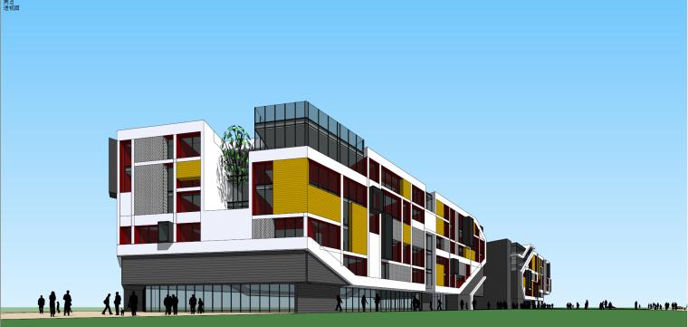现代简约创意办公楼建筑模型设计
