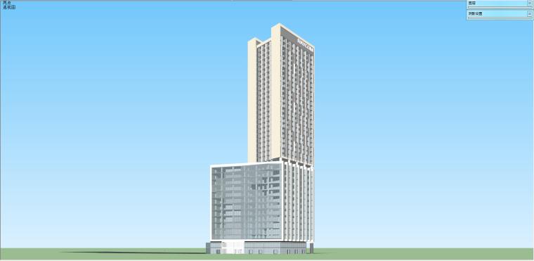 联想总部办公大楼SU精细设计模型 (1)