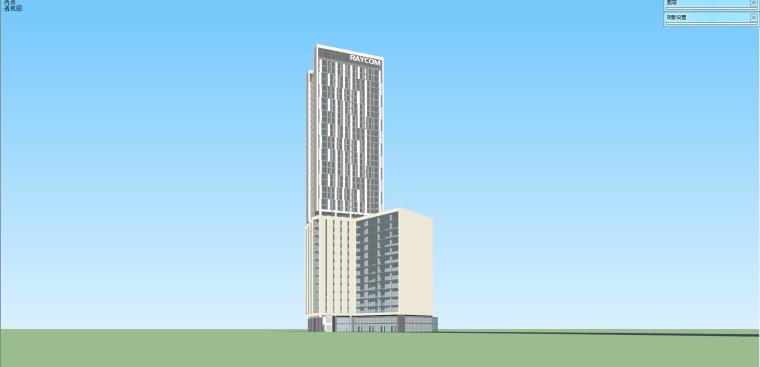 联想总部办公大楼SU精细设计模型 (3)