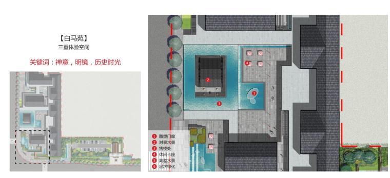 [湖南]新古典风格滨江正荣府住宅景观方案-白马苑