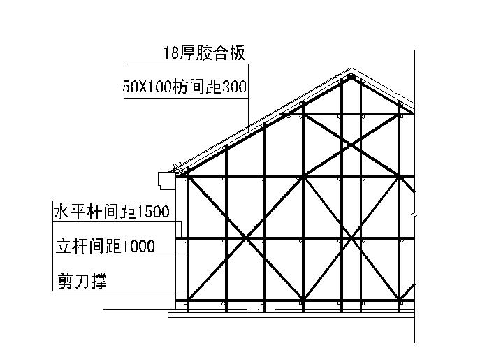学校综合楼斜屋面模板专项施工方案