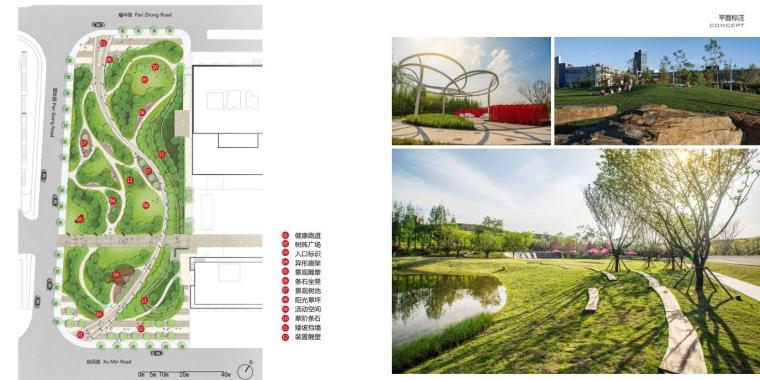 [浙江]宁波湾新中式住宅景观方案文本-阳光森林平面标注
