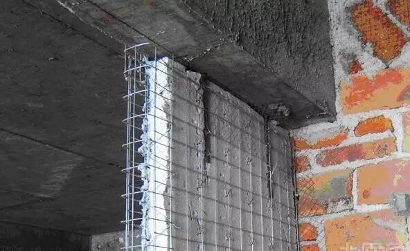 高层住宅工程填充墙拉结筋连接方法