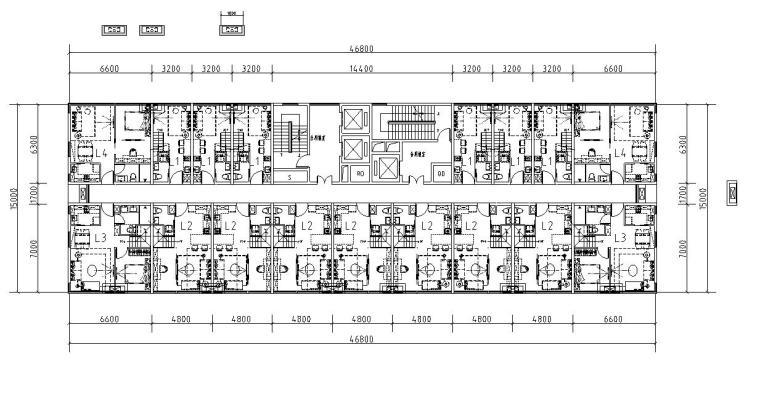 loft公寓商墅户型设计平面图