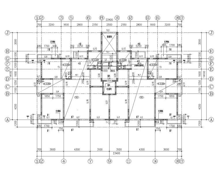 某十四层住宅混凝土结构施工图(CAD)