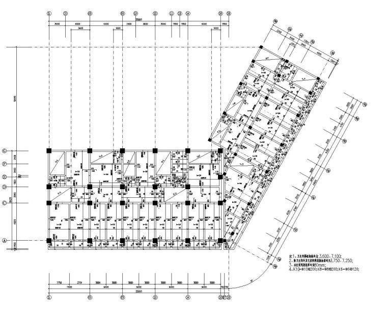 某16层办公楼框架结构施工图(CAD)