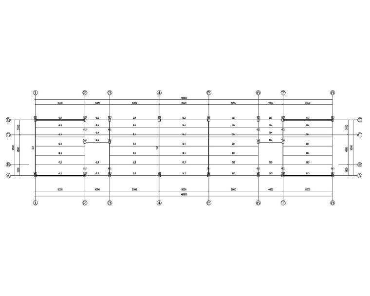 某四层办公楼钢结构施工图(CAD)