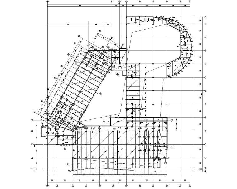 某校图书馆框架结构施工图(CAD)