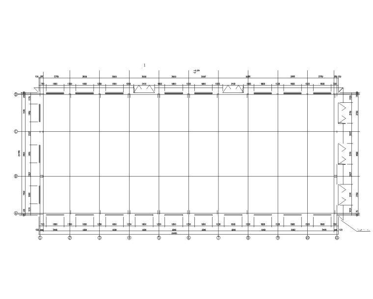 某屋面钢结构桁架厂房结构施工图(CAD)