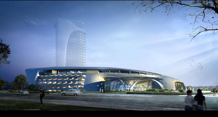 [江苏]现代风格四星级花园酒店方案设计