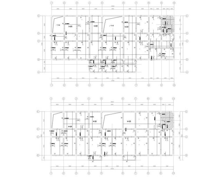 某四层政府办公大楼框架结构施工图(CAD)