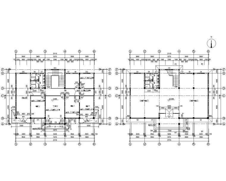 某二层办公楼砖混结构施工图(CAD)