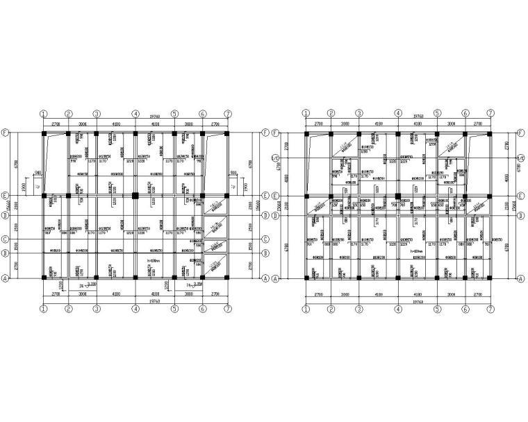 某五层办公楼混凝土结构施工图(CAD)