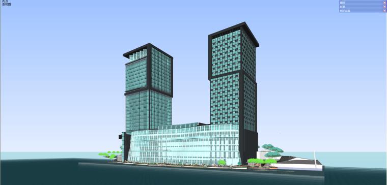贵州福安国际广场办公+商业建筑模型设计