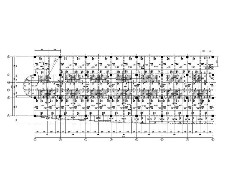 七层综合性办公楼框架结构施工图(CAD)