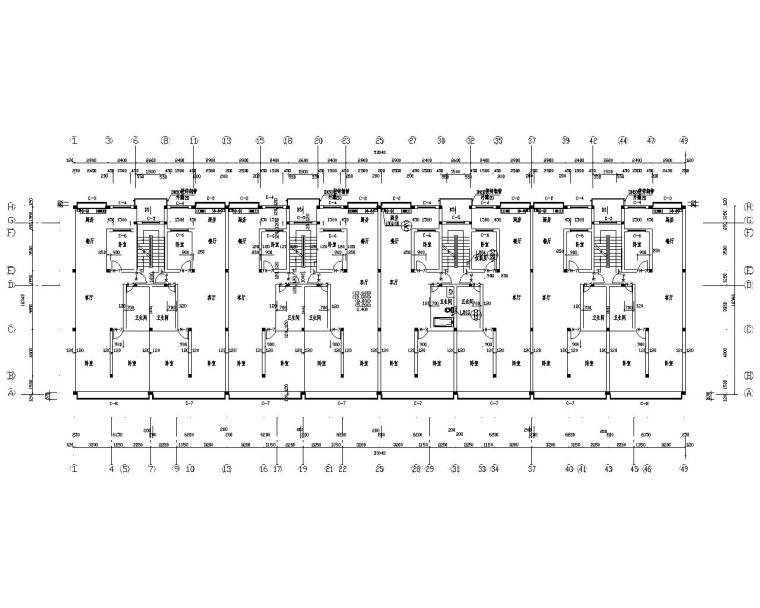 6层住宅楼全套砖混结构施工图(CAD)