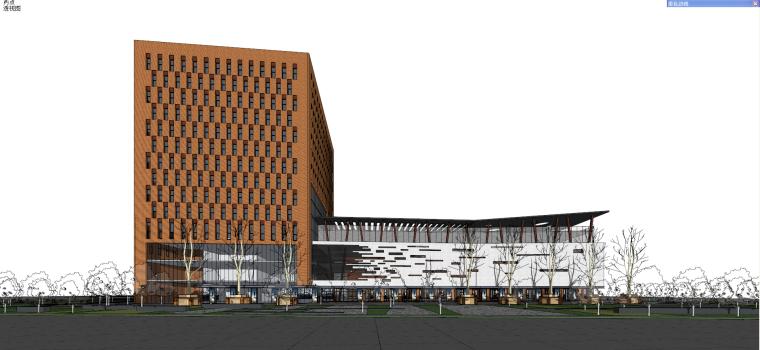 现代风格办公+商业建筑模型设计