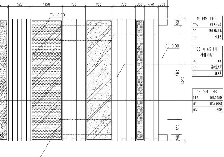 景观设计深度图示-玻璃廊架详图设计