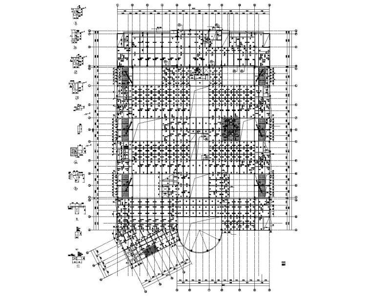 十一层高层医院综合楼结构施工图(cad)图片