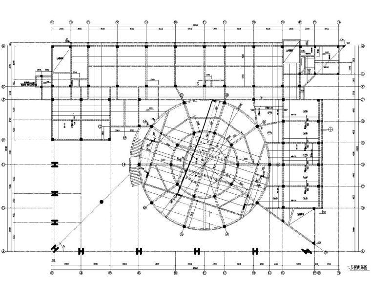 某小学综合行政办公楼结构施工图(CAD)
