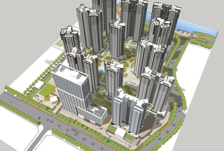 [广东]现代风格高层住宅+示范区建筑方案
