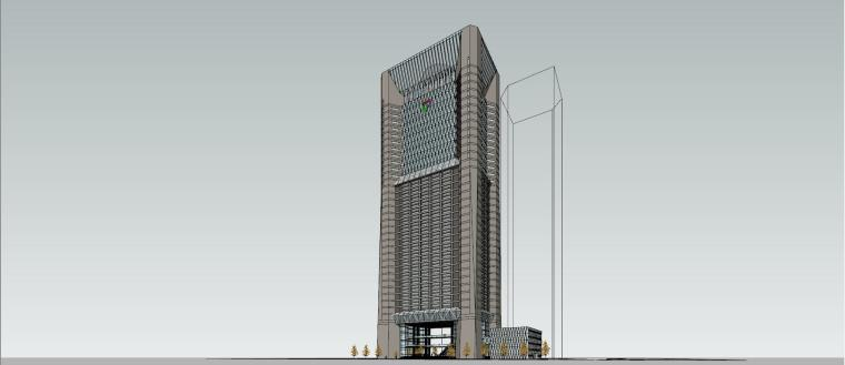 现代风高层办公大厦su模型设计