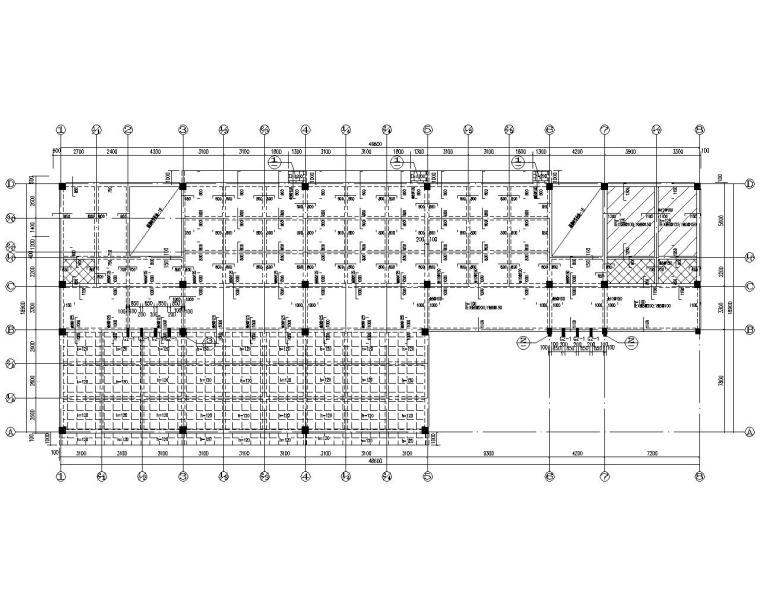 五层中学教学楼框架结构施工图(CAD)