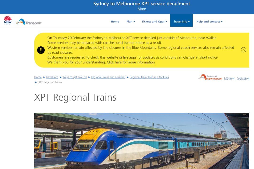 澳大利亚悉尼至墨尔本XPT快车脱轨_6