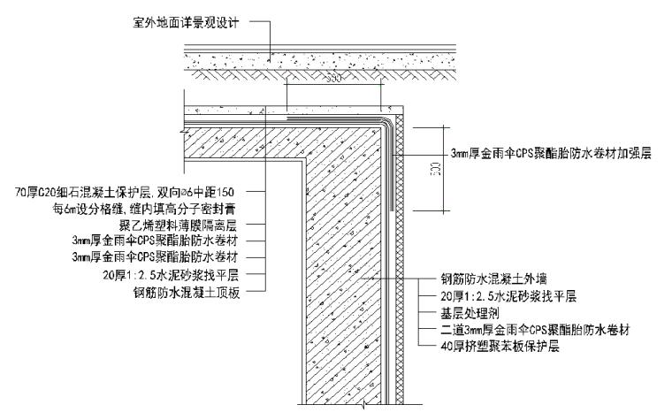 学院地下室防水工程施工方案