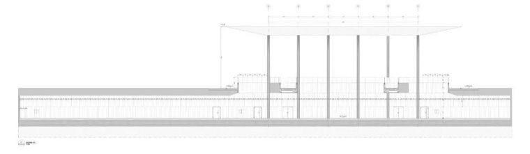 极简火车站_45x35米的金属屋顶,柱子支撑_14