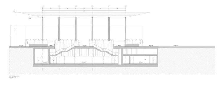 极简火车站_45x35米的金属屋顶,柱子支撑_18