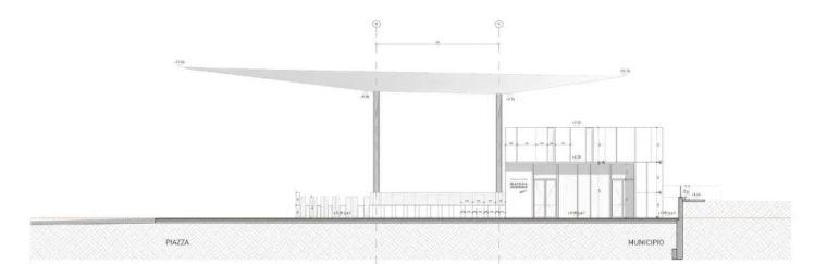 极简火车站_45x35米的金属屋顶,柱子支撑_19