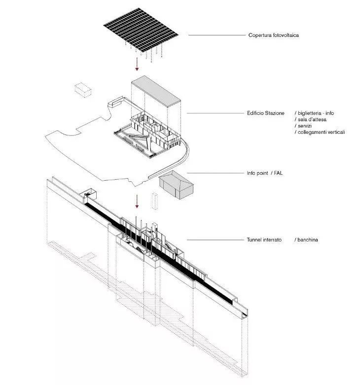 极简火车站_45x35米的金属屋顶,柱子支撑_21