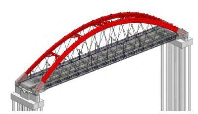 高速铁路系杆拱桥BIM应用