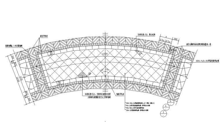 园路铺装标准化设计-弧线标准原路铺装