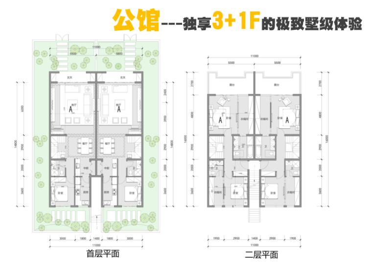 成都天府新区洋房+联排+合院项目投标方案-公馆户型